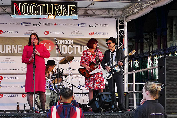 The Mrs Mills Experience at the London Nocturne,	Smithfield Market, Farringdon, central London, Saturday 9th June 2012